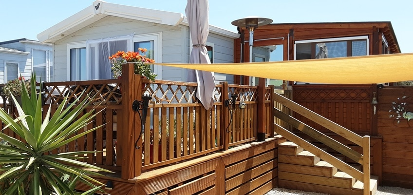 Residential decking area